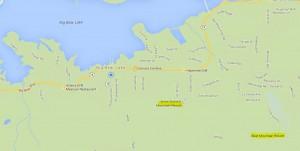 Map with Big Bear Resorts