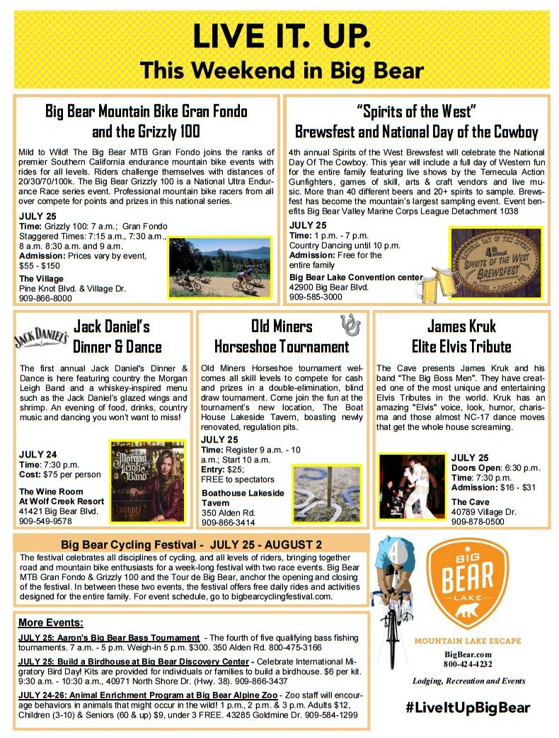 Free Printable Coupons for Things in Big Bear Lake, CA. CODES For the more adventurous, check out discount coupons for different recreational activities such as bike rentals, tour boat cruises, horseback rides, pontoon boat rentals, bowling and more.