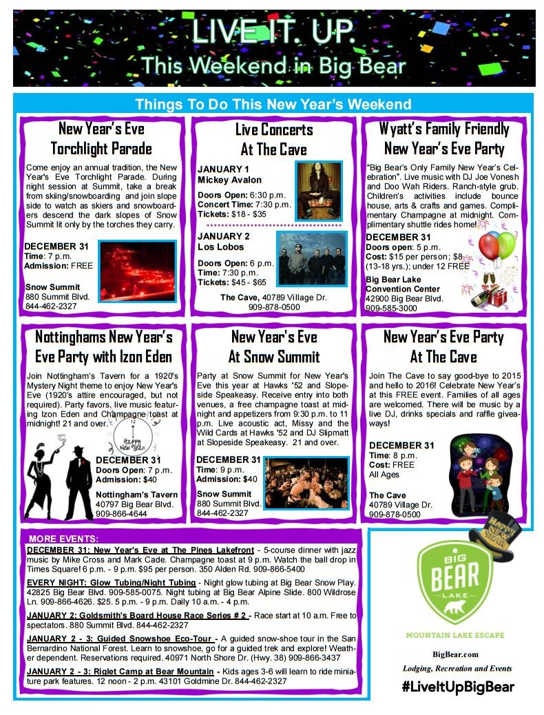 Happy New Year - What\'s Up In Big Bear - Big Bear Lake Real Estate ...