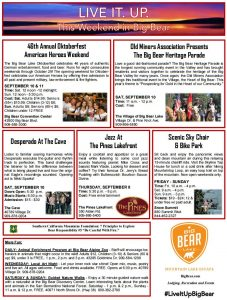 Sept 10-11 2016 Whats Up In Big Bear