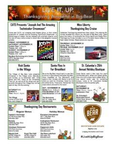 Thanksgiving Weekend In Big Bear