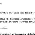 Tire requirements