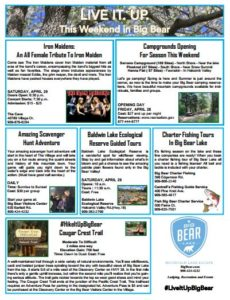 Big Bear: How about a scavenger hunt & campgrounds are open!