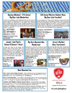 Opening Weekend of Oktoberfest in Big Bear