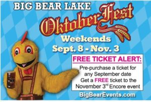 Time for Oktoberfest in Big Bear